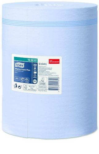Tork Wiping Paper Plus Centerfeed 2-lgs, blauw, 157.5mtrx20cm