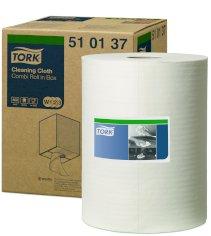 Werkdoek tork premium 510 W2 1-lgs 152mtrx32cm wit nonwoven