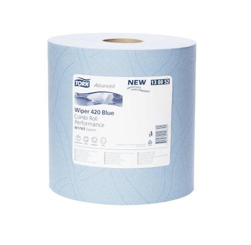 Tork poetsrol 2-lgs blauw 255mtrx24cm W1/W2