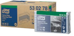 Tork poetsdoek Heavy-Duty W4 1-lgs 42x38cm blauw nonwoven