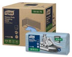 Tork poetsdoek Heavy-Duty W4 1-lgs 41,5x35,5cm blauw nonwoven FSC MIX
