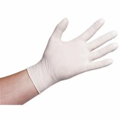 Handschuhe Latex, Größe M weiß