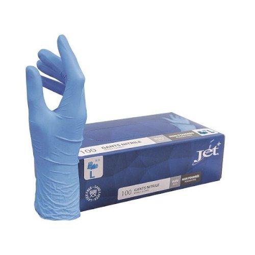 Handschoen nitril blauw L ongepoederd