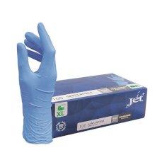 Handschuh Jet+ Nitril blau Gr. M Gr. XL ungepudert