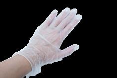Handschoenen vinyl maat L transparant, niet gepoederd