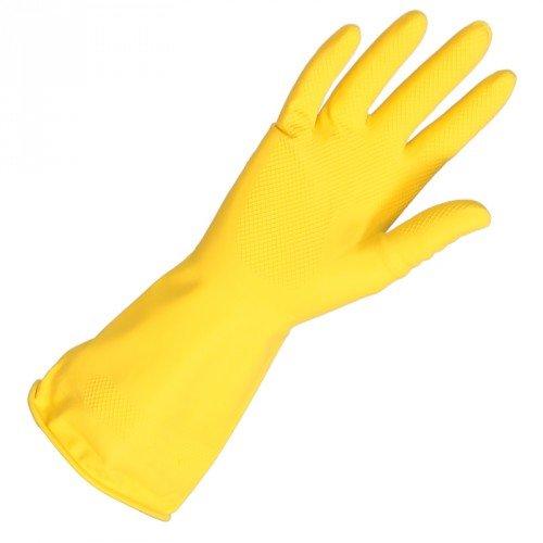 Huishoudhandschoenen latex geel maat L