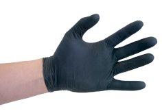 100 Handschuhe Nitril Größe M schwarz ungepudert