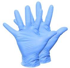 Handschoenen vinyl maat S blauw gepoederd