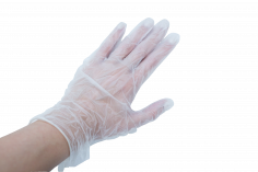 Handschoenen vinyl maat L naturel, gepoederd