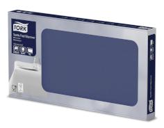 A 4x25 nappes text. 80x80cm bleu foncé se sent comme le textile