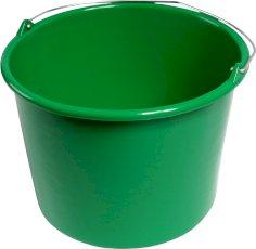 Emmer plastic 12ltr bouw rond groen @29x23cm
