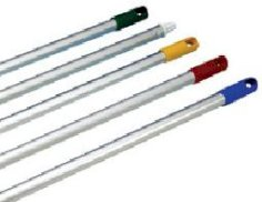 Manche aluminium pour balai-brosse jaune