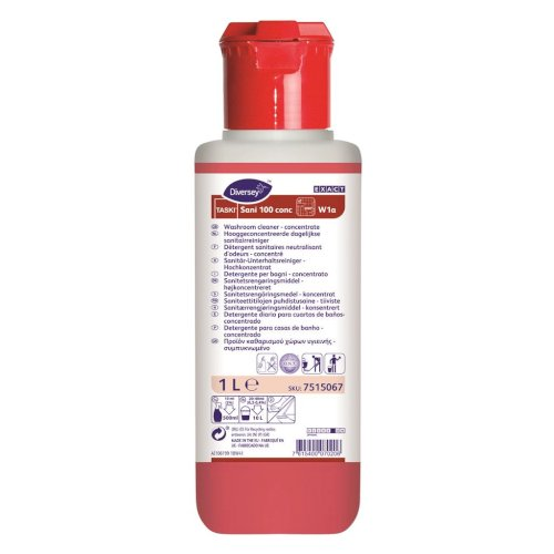 Taski Sani 100 W1A 1L hooggeconc. dagelijkse sanitairreiniger