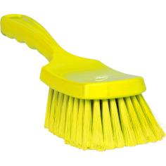Handborstel hard Vikan geel medium