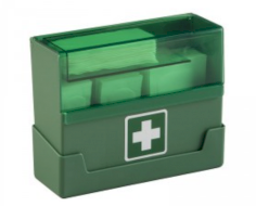 Pleisterdispenser gevuld + wandhouder ABS+90st non-woven pleisters(4 formaten)