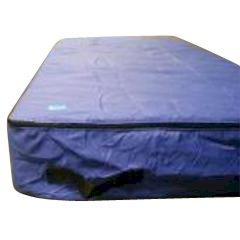 Matrashoes stof 225x100x30cm blauw voor 1 persoons matras