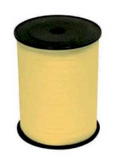 Krullint 10mmx200mtr paperlook geel