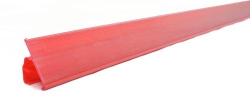 Prijsrail displayplank datastrip lengte 1238mm hoogte 39mm rood