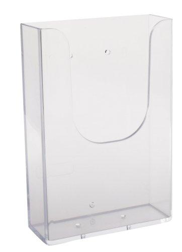 Flyerhouder A6 transparant voor aan plexigoot