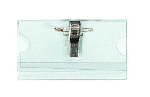 Badges speld/knijper 75x40mm inclusief blanco insteekkaartje