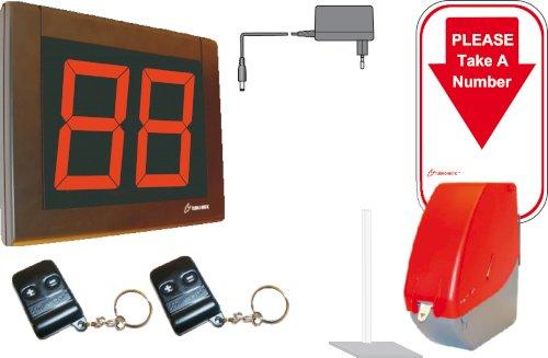Startpakket Turn-O-Matic EU S32 RF CS wachtrij systeem met toonbankstandaard