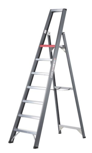 Trap aluminium gecoat Altrex Falco 7 treden enkel oploopbaar