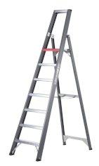 Trittleiter, beschichtetes Aluminium, Altrex Falco 7 Stufen, einseitig begehbar
