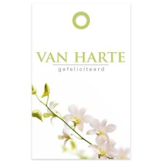 Bloemkaartje 60x95mm Van Harte