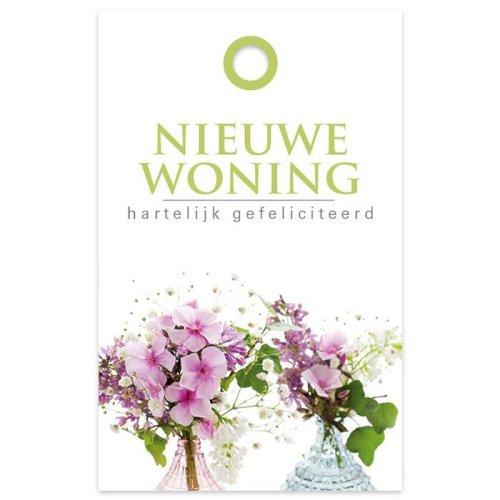 Bloemkaartje 60x95mm Nieuwe woning