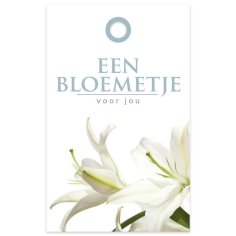 Bloemkaartje 60x95mm Een bloemetje