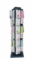 Mühle für Blumenkarten, 20 x 20 x 69 cm 36 Ecken, gefüllt, Art. 783046 bis 783081