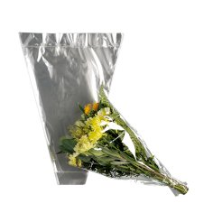 Sac à fleurs OPP 70x45x15cm bloc par 50 pièces 40my transparent