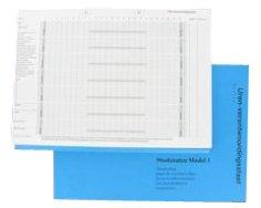 Weekstaat 30x21cm A4 model 1 per week, blauwe kaft