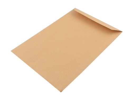 Akte envelop 240x340mm bruin 90grs, met gomsluiting