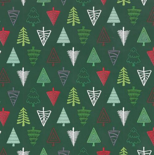 Kerstpapier kerstbomen 70cm 70 grs