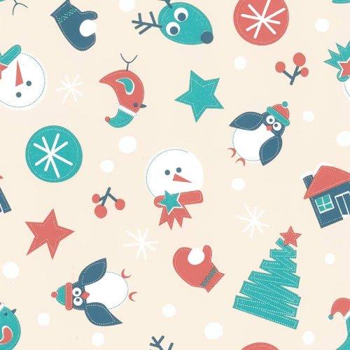 Kerstpapier 50cm winter